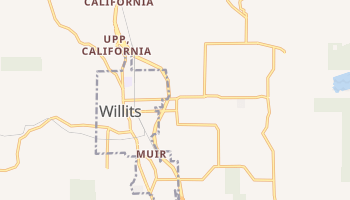 Willits, California map