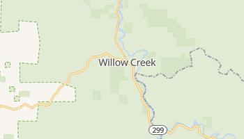Willow Creek, California map