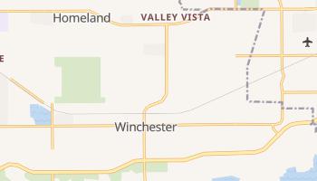 Winchester, California map