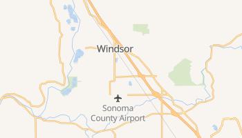 Windsor, California map