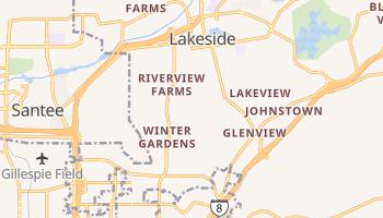 Winter Gardens, California map