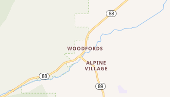 Woodfords, California map