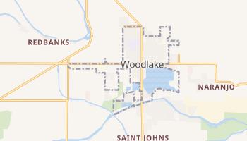 Woodlake, California map
