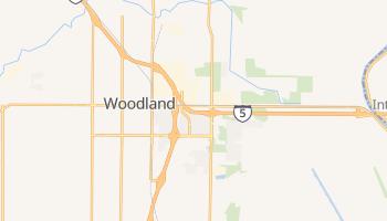 Woodland, California map