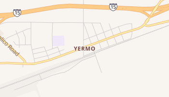 Yermo, California map