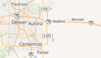 Aurora, Colorado map