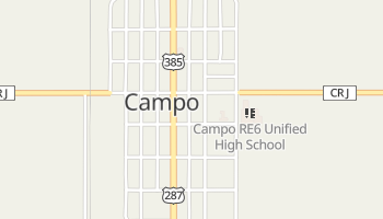 Campo, Colorado map