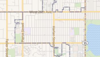 Edgewater, Colorado map
