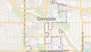 Glendale, Colorado map