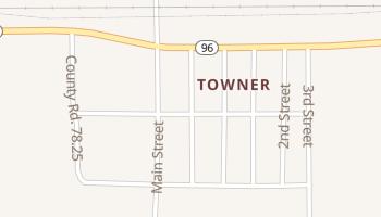 Towner, Colorado map