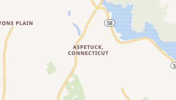 Aspetuck, Connecticut map