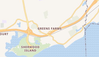 Greens Farms, Connecticut map