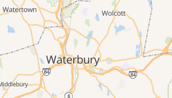 Waterbury, Connecticut map
