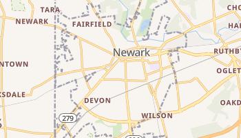 Newark, Delaware map