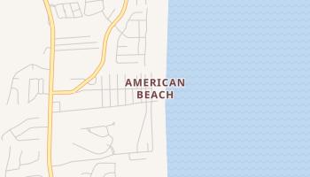 American Beach, Florida map