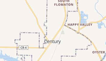 Century, Florida map