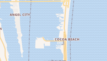 Cocoa Beach, Florida map