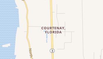 Courtenay, Florida map
