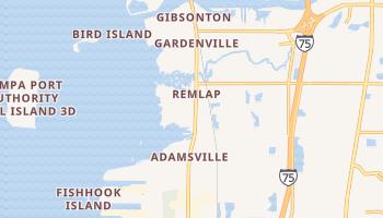Gibsonton, Florida map