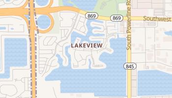 Lakeview, Florida map