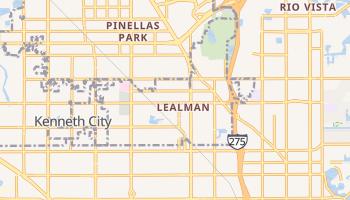 Lealman, Florida map