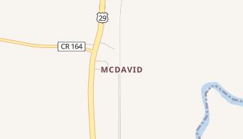 McDavid, Florida map