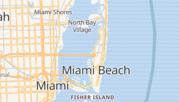 Miami Beach, Florida map