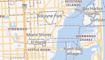 Miami Shores, Florida map