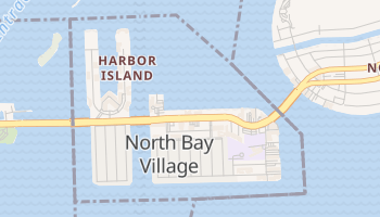 North Bay Village, Florida map