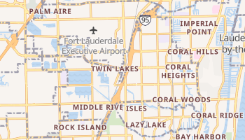 Oakland Park, Florida map