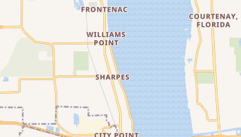 Sharpes, Florida map