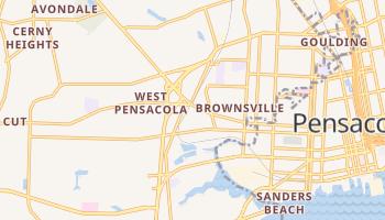 West Pensacola, Florida map