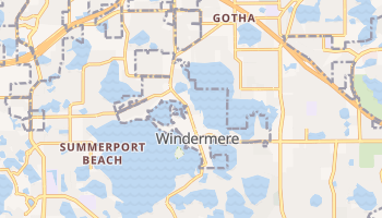 Windermere, Florida map