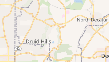 Druid Hills, Georgia map