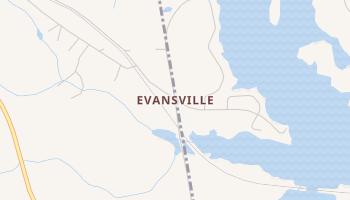 Evansville, Georgia map