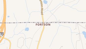 Fortson, Georgia map