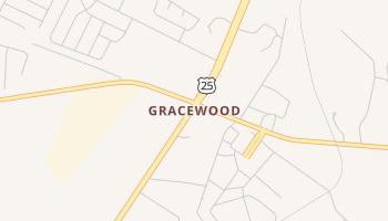 Gracewood, Georgia map