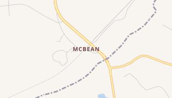 McBean, Georgia map