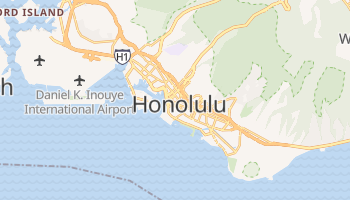 Honolulu, Hawaii map