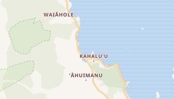 Kahaluu, Hawaii map