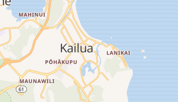 Kailua, Hawaii map