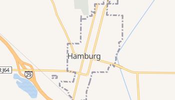 Hamburg, Iowa map