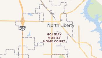 North Liberty, Iowa map