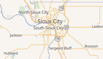 Sioux City, Iowa map