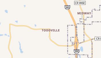 Toddville, Iowa map