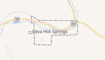Lava Hot Springs, Idaho map