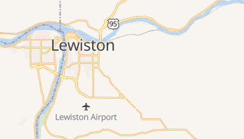 Lewiston, Idaho map