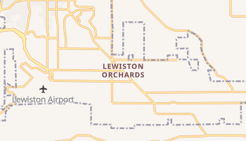 Lewiston Orchards, Idaho map