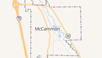 McCammon, Idaho map
