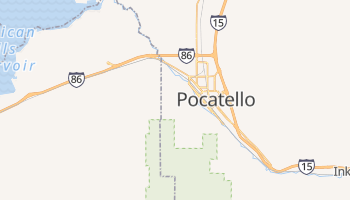 Pocatello, Idaho map